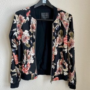 Sanctuary size small floral bomber jacket